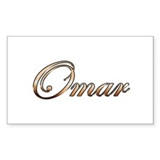 Gold Omar Decal