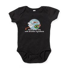 stork baby brazil white 2.psd Baby Bodysuit
