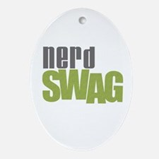 NERD SWAG Ornament (Oval)