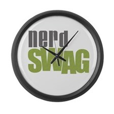 NERD SWAG Large Wall Clock
