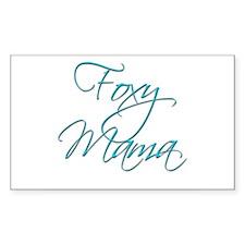 Foxy Mama 19 Rectangle Decal