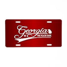 Georgia State of Mine Aluminum License Plate
