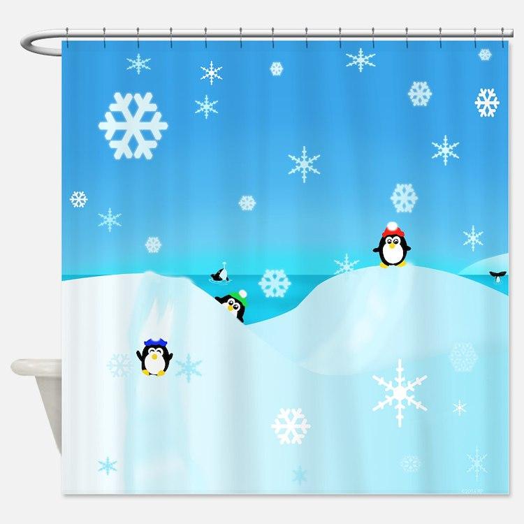 Peguin Paradise 2014 Shower Curtain