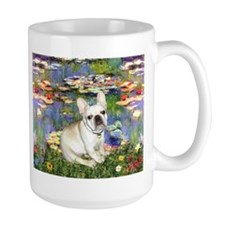 Monet's Lilies & French Bulldog Mug