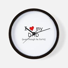 I love dad (fart humor) Wall Clock