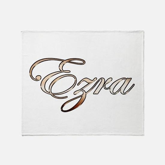 Gold Ezra Throw Blanket