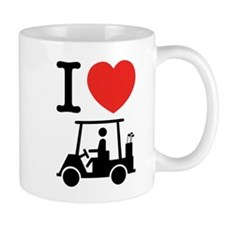 I Heart (Love) Golf Cart Mugs