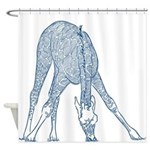 Giraffe Sketch Shower Curtain