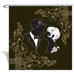Art Deco Couple Shower Curtain