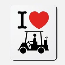 I Heart (Love) Golf Cart Mousepad