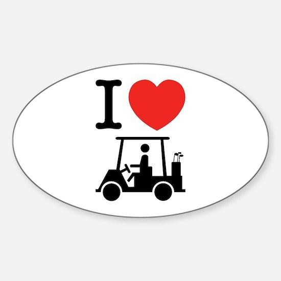 I Heart (Love) Golf Cart Decal