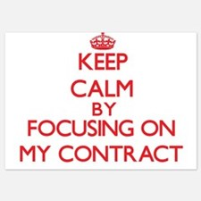Keep Calm by focusing on My Contract Invitations