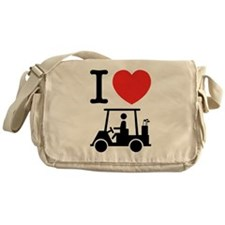 I Heart (Love) Golf Cart Messenger Bag