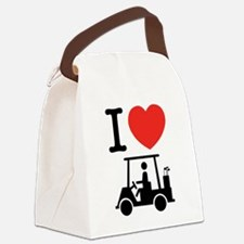 I Heart (Love) Golf Cart Canvas Lunch Bag