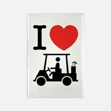 I Heart (Love) Golf Cart Magnets