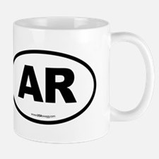Arkansas AR Euro Oval Mug