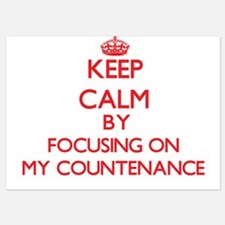 Keep Calm by focusing on My Countenanc Invitations
