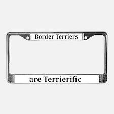Terrierific Border Terriers License Plate Frame