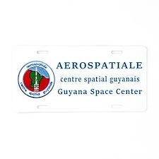 Aerospatiale Guiana Aluminum License Plate