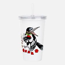 crow Acrylic Double-wall Tumbler