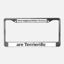 Westies Are Terrierific License Plate Frame