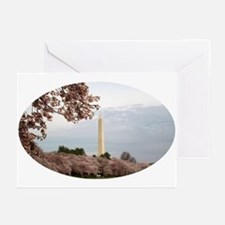 Cherry blossom monument Greeting Cards (Package of