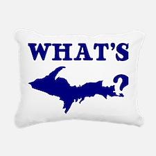 What's UP? Rectangular Canvas Pillow