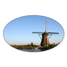 Dutch windmill Oval Decal