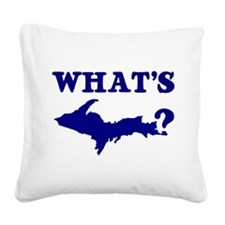 What's UP? Square Canvas Pillow