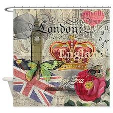 London England Vintage European Travel Collage Sho