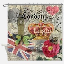 London England Vintage European Travel Collage Sho