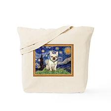 Starry Night & French Bulldog Tote Bag