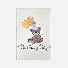 Birthday Boy Party Bear Rectangle Magnet