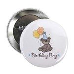 Birthday Boy Party Bear Button