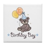 Birthday Party Bear Tile Coaster