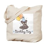 Birthday Boy Party Bear Tote Bag