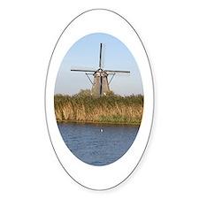 Dutch mill Oval Decal