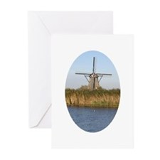 Dutch mill Greeting Cards (Pk of 10)