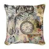 Alice in wonderland Woven Pillows