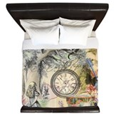 Alice in wonderland King Duvet Covers