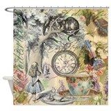 Alice in wonderland Shower Curtains