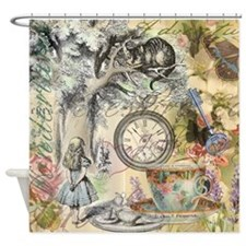 Cheshire Cat Alice in Wonderland Shower Curtain