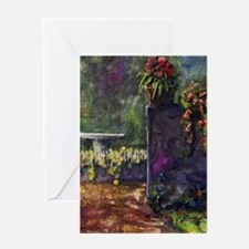 garden wall Greeting Cards