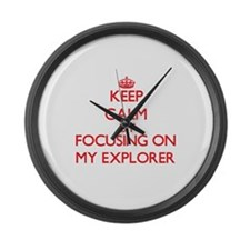 Keep Calm by focusing on MY EXPLO Large Wall Clock