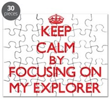 Keep Calm by focusing on MY EXPLORER Puzzle
