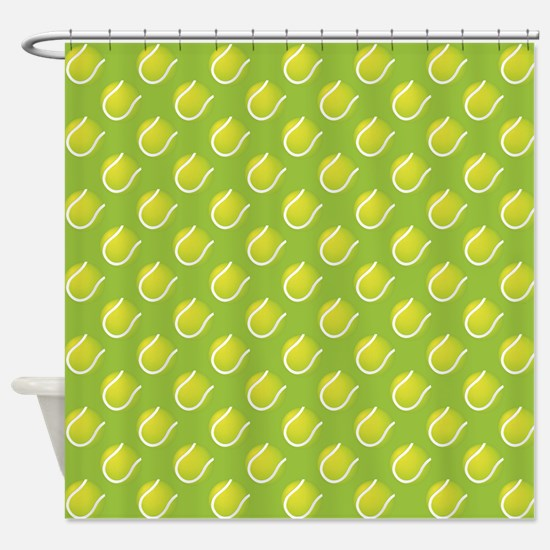 Tennis Balls Shower Curtain