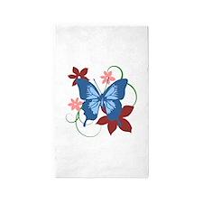 Butterfly Art 3'x5' Area Rug