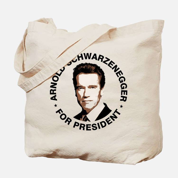 Arnold For President Tote Bag
