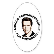 Arnold For President Oval Decal