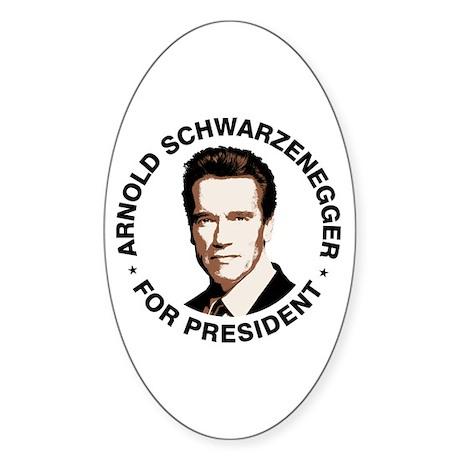 Arnold For President Oval Sticker